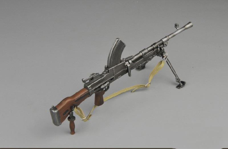 <font><b>1/6</b></font> <font><b>Scale</b></font> <font><b>Gun</b></font> WWII British Soldier Bren Machine <font><b>Gun</b></font> Model fit for 12 inches Action Figure Accessories image