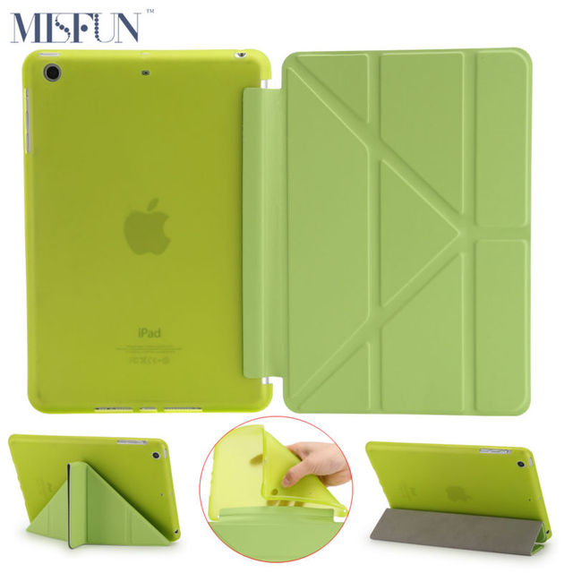 For Ipad 2 3 4 4 Shapes Stand Smart TPU Soft Case PU Leather Flip Back Cover For Apple iPad Mini 1 2 3 Retina Auto Sleep/Wake up