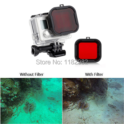 Blu//uso d/'acqua tropicale Polar Snap On Rosso Pro Filtro per GoPro Dive alloggiamento