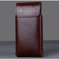 New Luxury Genuine Leather Case High Quality Smart On Off Phone Bag With Magnet Carry Sleeve