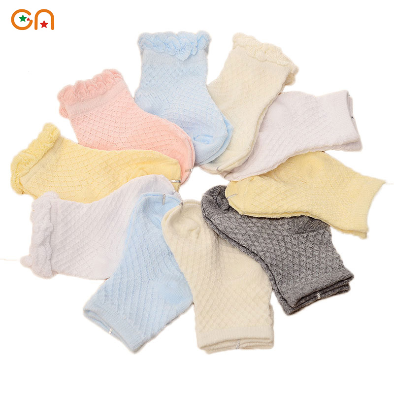 5 pairs/lot Summer high quality Boy Girl Cotton Casual socks Male and female baby thin section Mesh toddler socks Children Socks