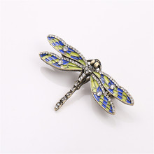 2017 free shipping fashion women New Jewelry Dragonfly retro fashion texture brooch Wholesale brooches Collare
