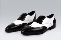 mens black white leather oxfords shoes in two colors elegant men wingtip dress shoes grooms wedding shoes fashion business shoes
