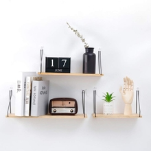 Household Nordic Style Wooden Hanging Rack Book Plant Holder Wall Decoration Simply Hanging Shelf For Living Room Bedroom