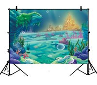 5x7ft Under Sea Mermaid Ocean Nautical Birthday Party Banner Polyester Photo Background Portrait Backdrop