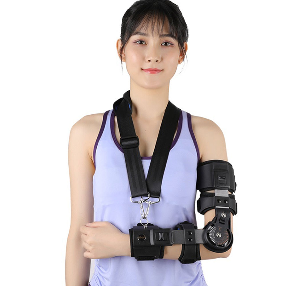 1Pcs Adjustable Elbow Joint Fixed Brace Corrective Orthosis Activity Limitation Arm Fracture Protector