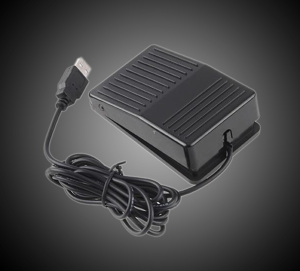 Wholesale 5 Pieces Lot High Quality USB Foot Switch Pedal Switch HID PC Computer USB Action