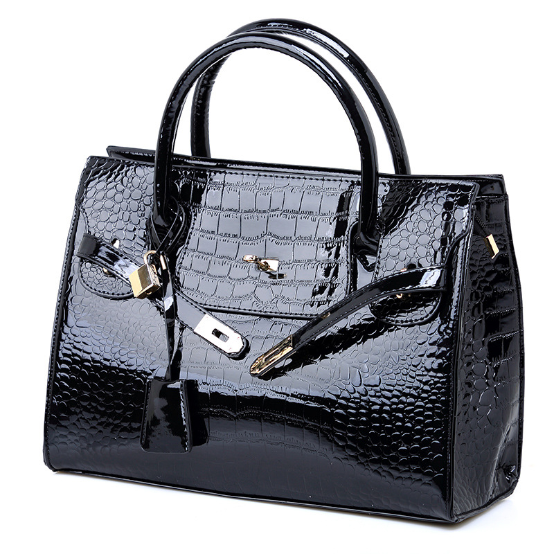 2019 New Fashion Crocodile Pattern Women Handbags Embossed Platinum Women Bag Casual Tote Casual Simplicity Women