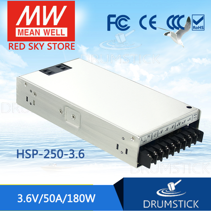 цена на MEAN WELL HSP-250-3.6 3.6V 50A meanwell HSP-250 3.6V 180W Single Output with PFC Function Power Supply [Real6]