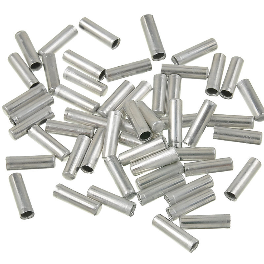 100 PCS Bicycle Bike Shifter Brake Cable Tips Caps End