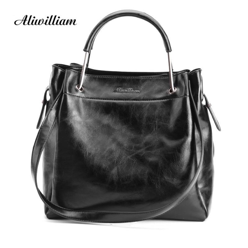 цены на Designers Brand crossbody Shoulder Bags 2017 Women oil wax PU Leather Tote Handbags Soft Purse bag Vintage Ladies messenger bags в интернет-магазинах