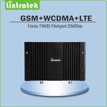 Tri Band 2 Г/3 Г/4 Г с Высоким Коэффициентом Усиления 70дб Мобильный Усилитель Сигнала GSM900 + UMTS 2100 + LTE2600 Сигнал Повторитель с жк-дисплеем и AGC/MGC