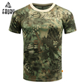 Армейская форма  летняя мужская футболка в стиле милитари с круглым вырезом  армейский зеленый тактический армейский Топ  камуфляжная одеж...