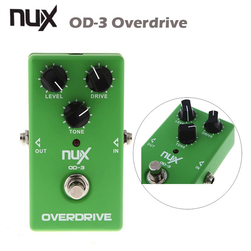 Prix pour NUX OD-3 Overdrive Électrique Guitare Pédale D'effet Ture Bypass Vert guitarra Pédale D'effet De Haute Qualité Guitare pièces & Accessoires