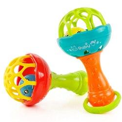 Baby Rasseln spielzeug Intelligenz Greifen Zahnfleisch Kunststoff Hand Glocke Rassel Lustige Pädagogisches Handys Spielzeug Geburtstag Geschenke WJ482