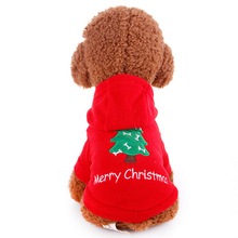 Christmas Clothes For Small Dogs Costume Pets Hoodie Warm Coat Jacket