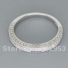 Romantic 14Kt Solid White Gold Wedding Band Ring R00320