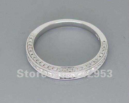 Romantique 14kt Or Blanc Bague De Mariage R00320