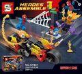 SY841 Super Heroes figuras Spiderman Ghost Rider hacer Equipo con Lepin Motocicleta Bloques de Construcción Ladrillos Niños Bebé Juguetes de regalo
