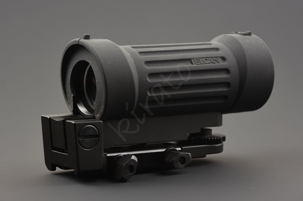 Tactical 4x30 optics Prism Rifle Scope Buffer rubber wrap with qd 20mm Picatinny rail Mount base M1190