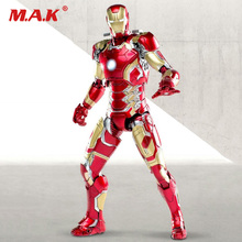 1/12 scale super flexible iron man MK43 action figure the Avengers collectible model toys Christmas for boys children collection 21cm anime figure the avanger gloves for iron man 1 1 with light action figure collectible model toys for boys