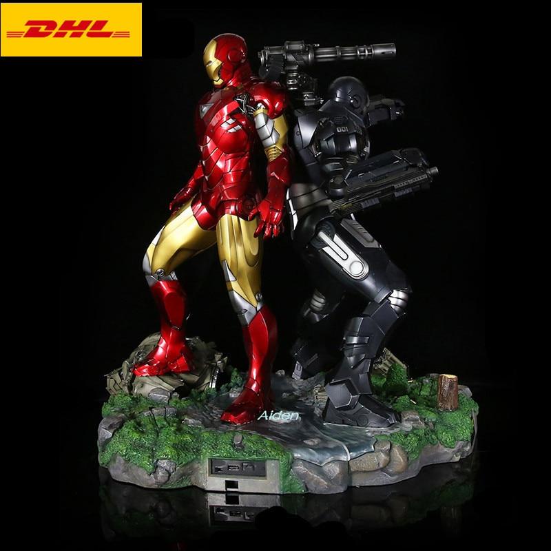 23 Мстители статуи супергероя Железный человек 1:4 MK6 War Machine с светодиодный свет анимационная фигурка GK Коллекционная модель Toy BOX 58 см B454