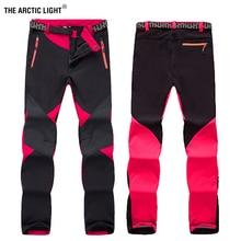 Светильник ARCTIC для походов на открытом воздухе, походные брюки для женщин, толстая мягкая оболочка, водонепроницаемая, ветрозащитная, термальная, для кемпинга, лыжного спорта, для зимы