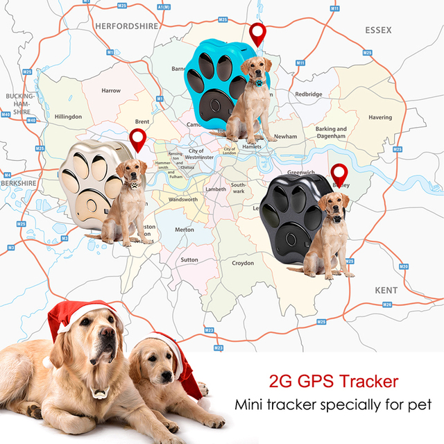 Smart Waterproof IP66 Mini Pet GPS  Realtime Tracking LED Rolling Light Long Time Standby  3