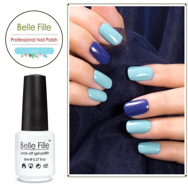 Belle Fille 8ml Color Nail Gel Lak Polish Glitter Glue UV Gel Vogue ...