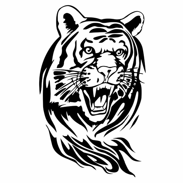 Car Stickers Angry Tiger Cool Decals 1510 Cm Car Styling House Car