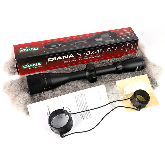 Tactical DIANA 3-9X40 AO Riflescope One Tube Mil Dot Reticle Optical Sight Hunting Rifle Scope 2