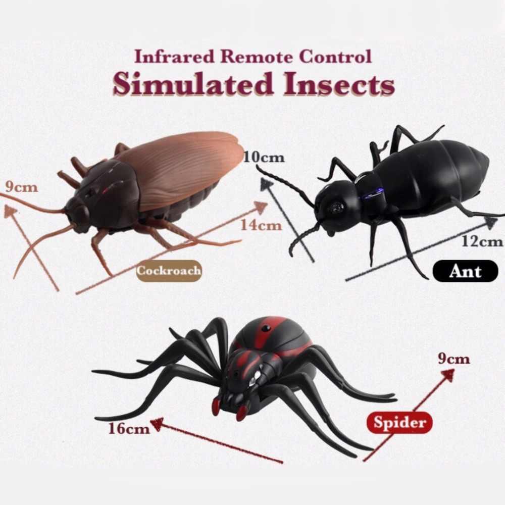 אינפרא אדום RC שלט רחוק בעלי החיים צעצוע ערכת לילדים מבוגרים חכם מקק עכביש נמלה Prank בדיחות רדיו חרקים לנערים 1 חתיכה