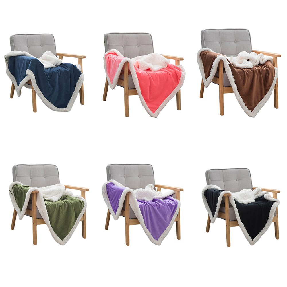 New Winter Double Layers Blanket Adult Sofa Bed Couch Soft Thick Throw Blanket