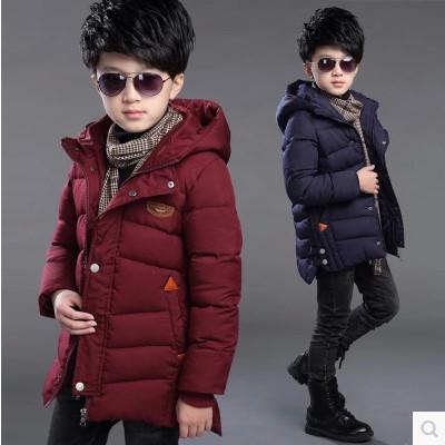 2016 nueva ropa de los niños del muchacho grande de algodón virgen invierno moda casual chaqueta gruesa chaqueta de los muchachos de los niños 3-14 años de edad