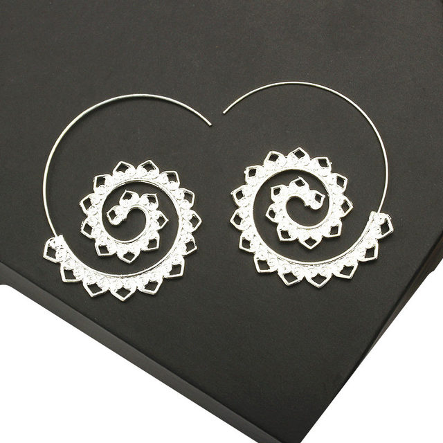 Ufavoirte Fashion Bijoux 9 Earring Hoop Round Indian Tribal Ethnic Earrings Boho Drop Earrings For Women love Jewelry Wholesale 4
