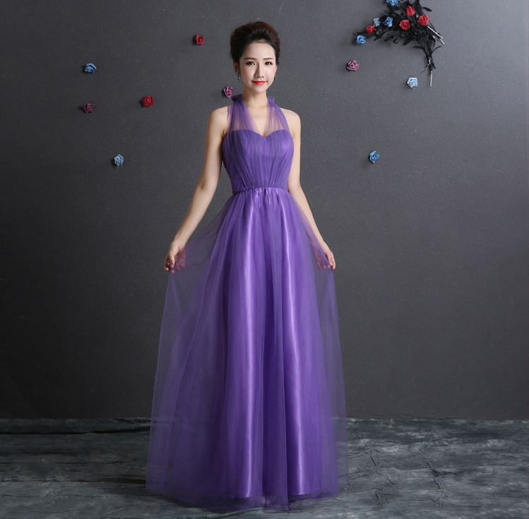 Robe demoiselle d'honneur HOT Tulle burgundy lavender mint green blush pink convertible   bridesmaid     dresses   long cheap