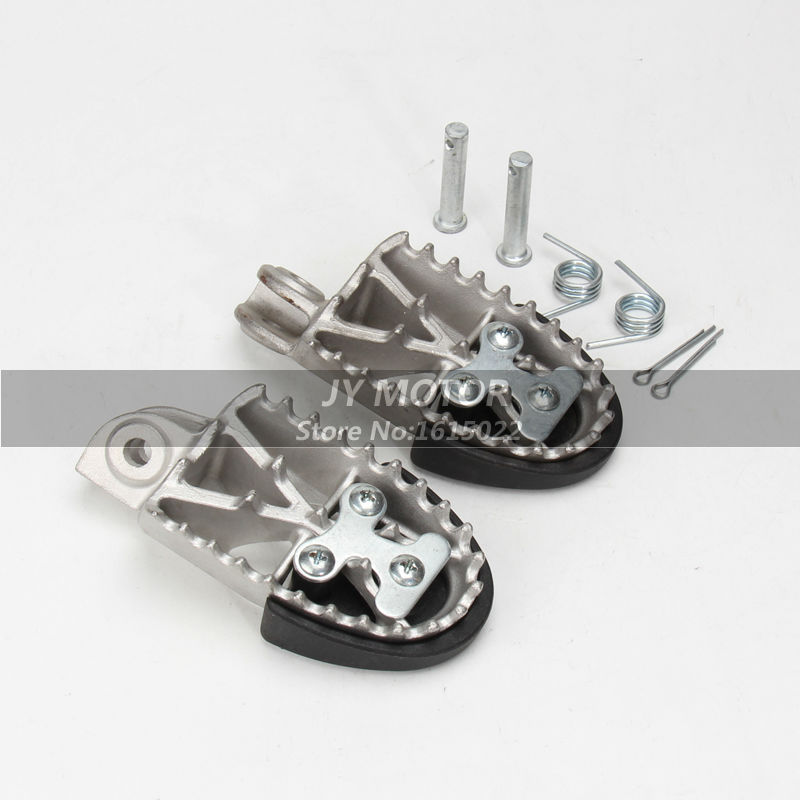 ФОТО Universal refitting parts stainless steel foot rests foot pegs pedeals fit dirt bike Apollo Bosuer Huayang free shipping