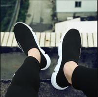 Summer trend men's shoes couple lazy casual canvas shoe one pedal version of the tide Mesh Air on sale new fashion