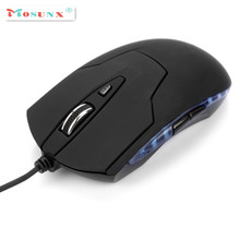 Ecosin2 Mosunx Hot Sale Mosunx Fashion Design 1800 DPI 6 Buttons USB Optical Wired Gaming Mouse Mice For PC Laptop 17mar24