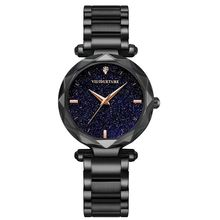 цена New Fashionable Black Stainless Steel Watch with Women's Watch, Leisure Quartz Watch, Women's Elegant Dress Watch, 2019 онлайн в 2017 году