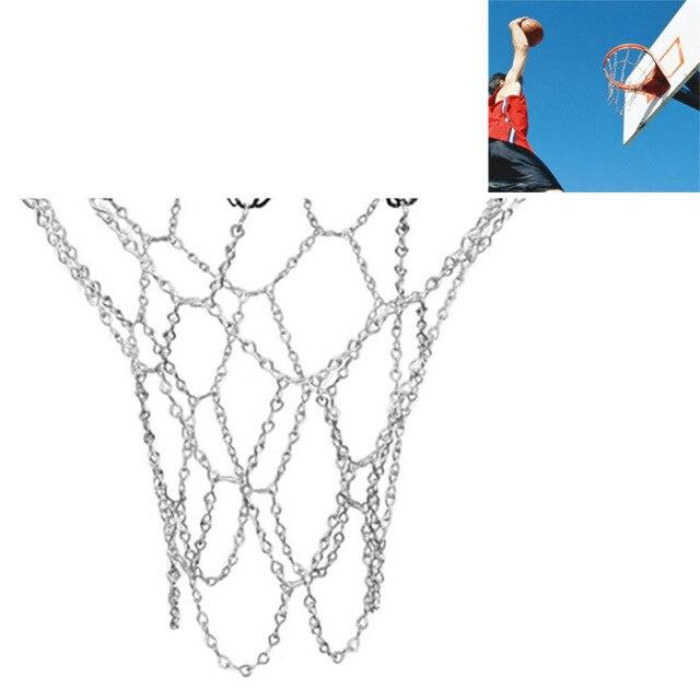 Классическая спортивная стальная баскетбольная сеть, наружная оцинкованная стальная цепочка, баскетбольная сетка
