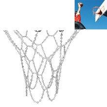 Rede de basquete galvanizada, corrente esportiva clássica de aço da basquete