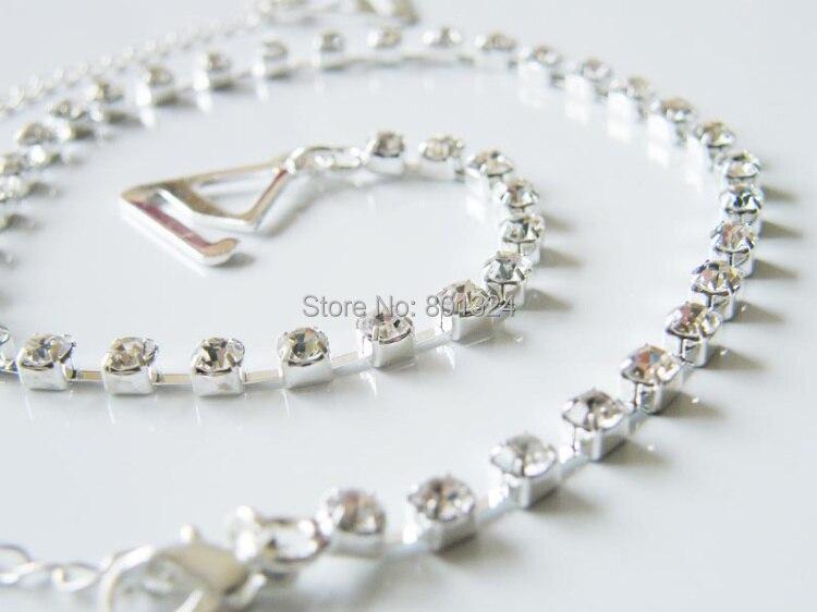 New Sexy Women's Ladies Adjustable Crystal Diamante Rhinestone Bra Shoulder Straps Nice 1 Pair 9