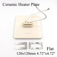 120 120mm Flat Vacuum Injection Molding Machine Repair Far Infrared IR Ceramic Heating Plate Air Ceramic