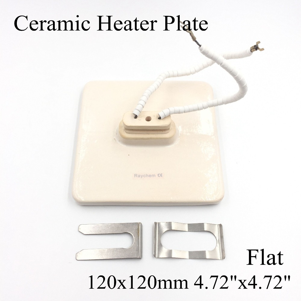 120*120mm Flat Vacuum Injection Molding Machine Repair Far-infrared IR Ceramic Heating Plate Air Ceramic Heater Board Pad ceramic heater board 120 120mm 220v 230v 150w white flat top upper infrared ceramic heating plate for bga station heater heating