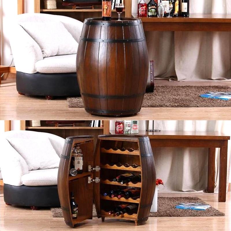 oak barrel wine racks wooden kegs decorative beer bar photography props wooden barrels hostels decoration rice - Wine Racks For Sale