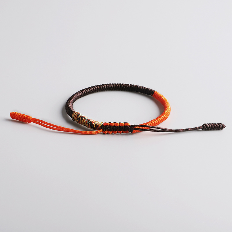 Tibetan Buddhist Lucky Thread Bracelets Bangles For Woman Men Handmade Knots Rope Braid Woven Blessed Amulet Bracelet Friendship in Charm Bracelets from Jewelry Accessories