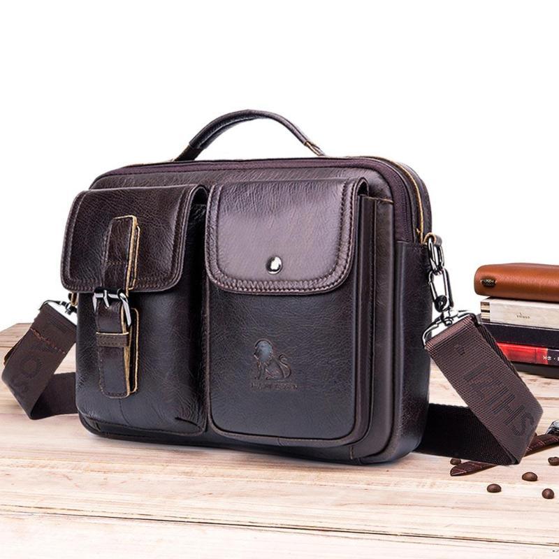 HTB1ETwOPNjaK1RjSZFAq6zdLFXad Men Business Briefcase Vintage Genuine Leather Laptop Messenger Bag Cowhide Big Capacity Tote Office Handbag Men Briefcase