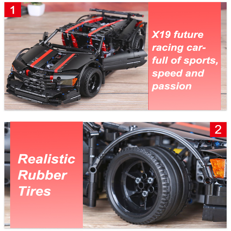 Xingbao 07003 1814pcs Creative Genuine Building Blocks Future Racing Car Model Building Kits Lepin Technic MOC Bricks Kids Gift