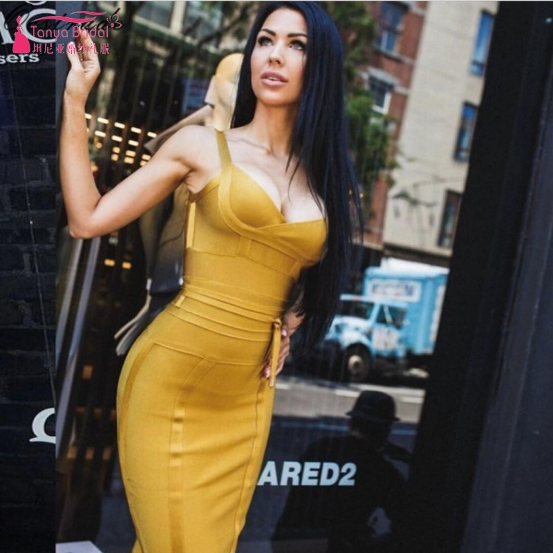 Fashion Original Design Women's   Cocktail     Dresses   Sexy V Neck Fishtail Party   Dress   Bandage   dress   DQG395